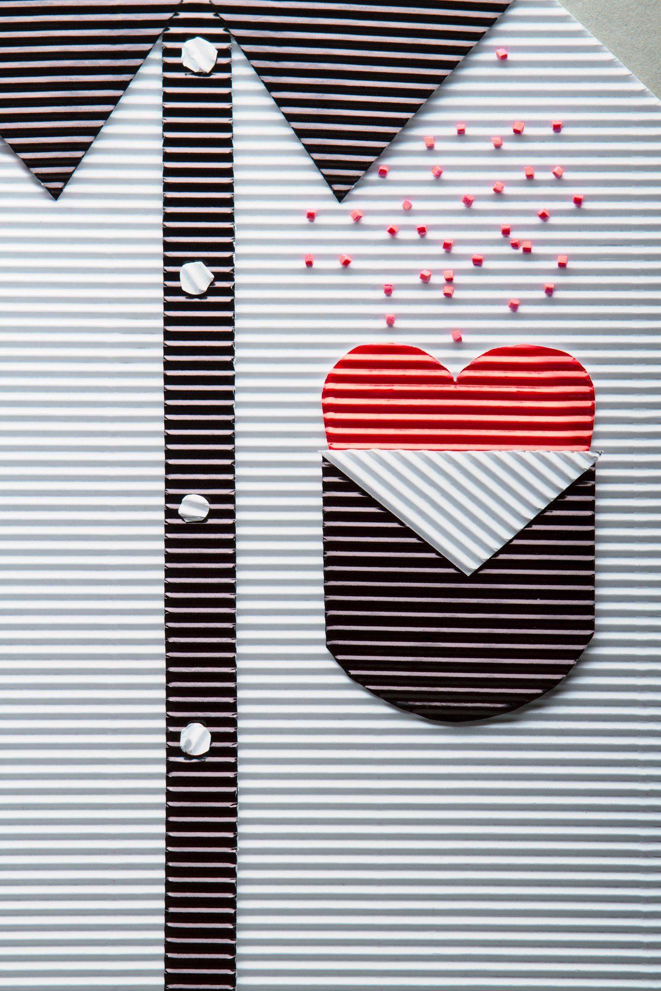 бумага, сердце, валентинка, рубашка,, Наталья Голубева