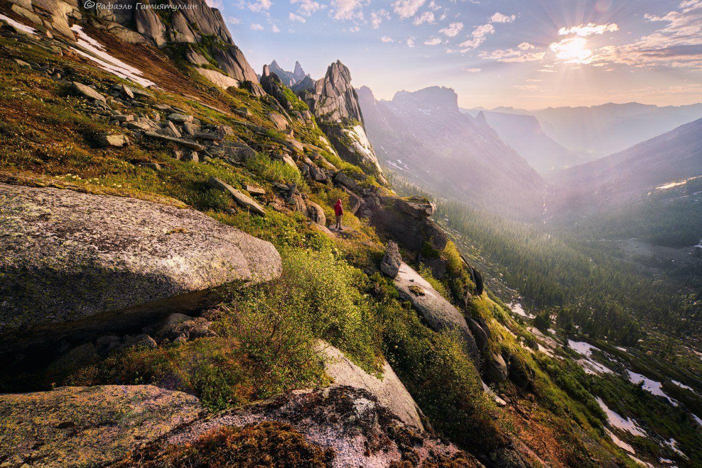 западные саяны, красноярский край, национальный парк ергаки, тайгиш, перевал, горы., Рафаэль Гатиятуллин