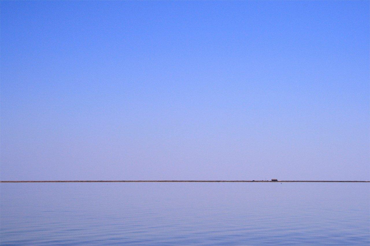 сиваш, крым, море, вода, лето, синий, россия, минимализм, Asedach Alexander