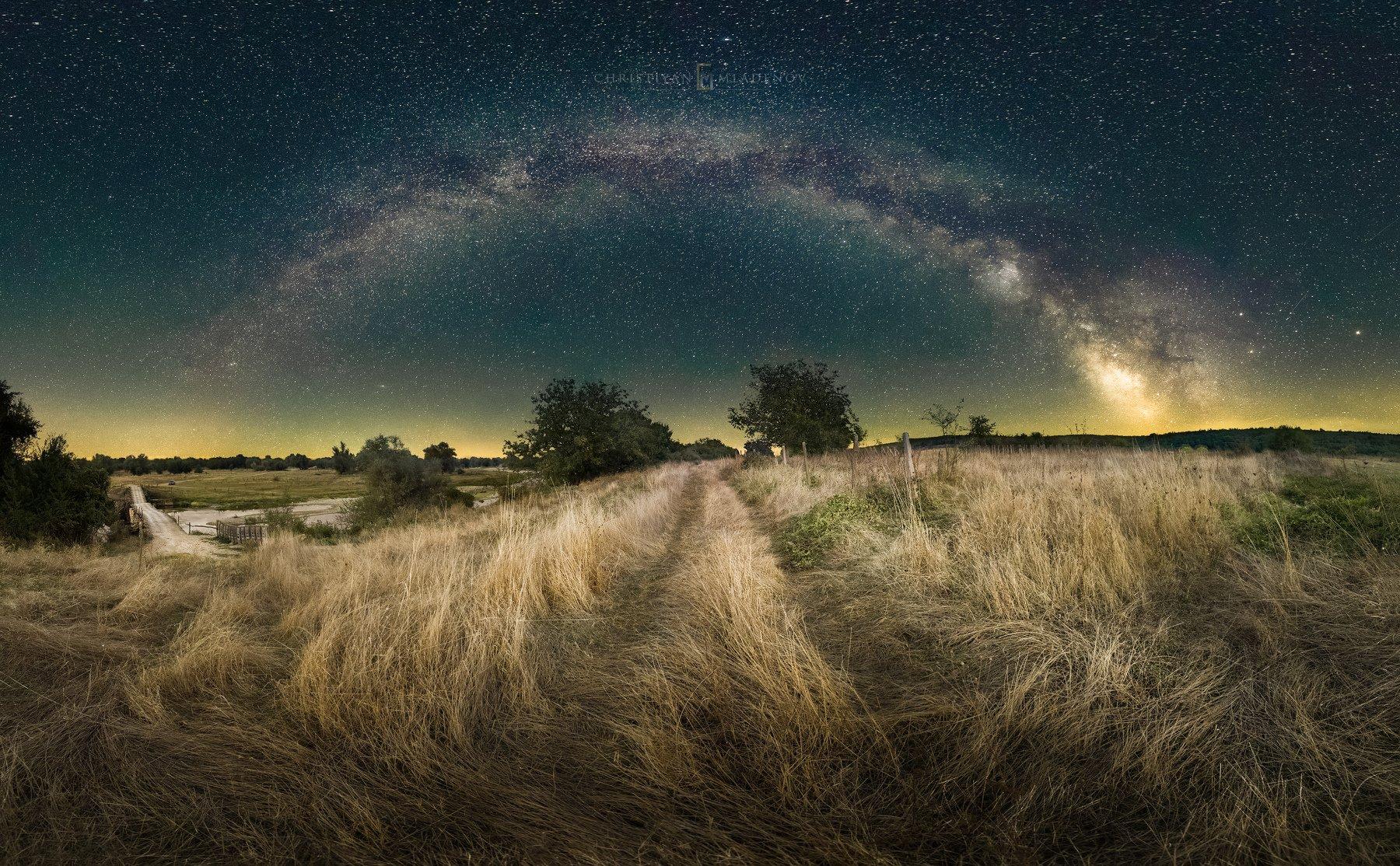 astrophotography, astronomy, galaxy, milky way, nightscape, night, sky, stars, long exposure, nature, bulgaria, space, panorama, Кристиян Младенов