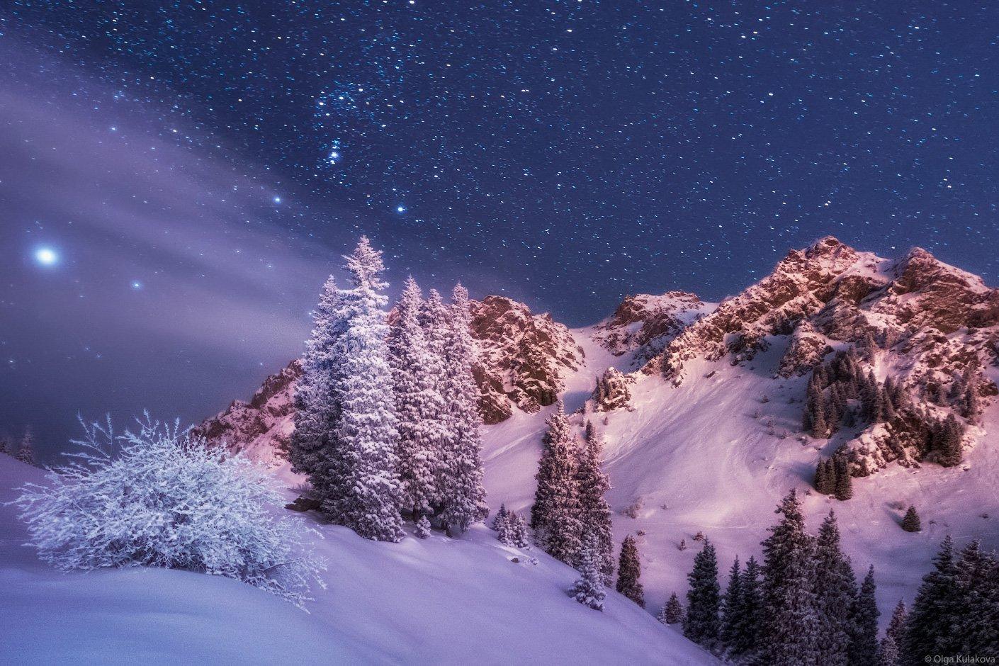 туюк-су, ночь, горы, ночное небо, орион, Ольга Кулакова