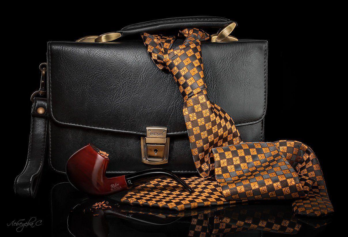 натюрморт,галстук,мужской,трубка,табак, Светлана Лебедева