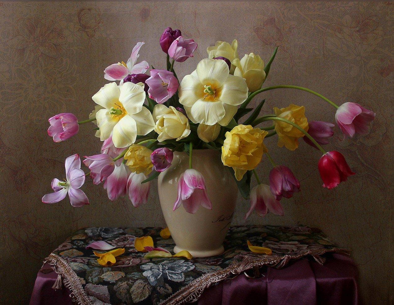 натюрморт, марина филатова, цветы, тюльпаны, Марина Филатова