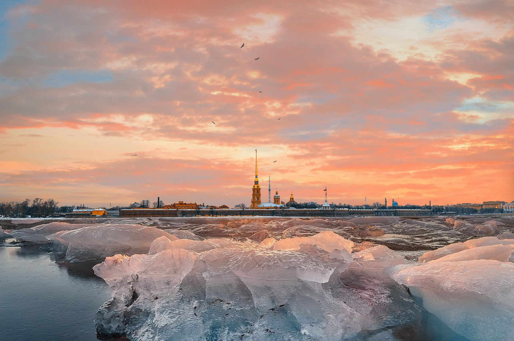 winter, russia, snow, спб, зима, снег, city, sky, небо, город, Andrei Mikhailov