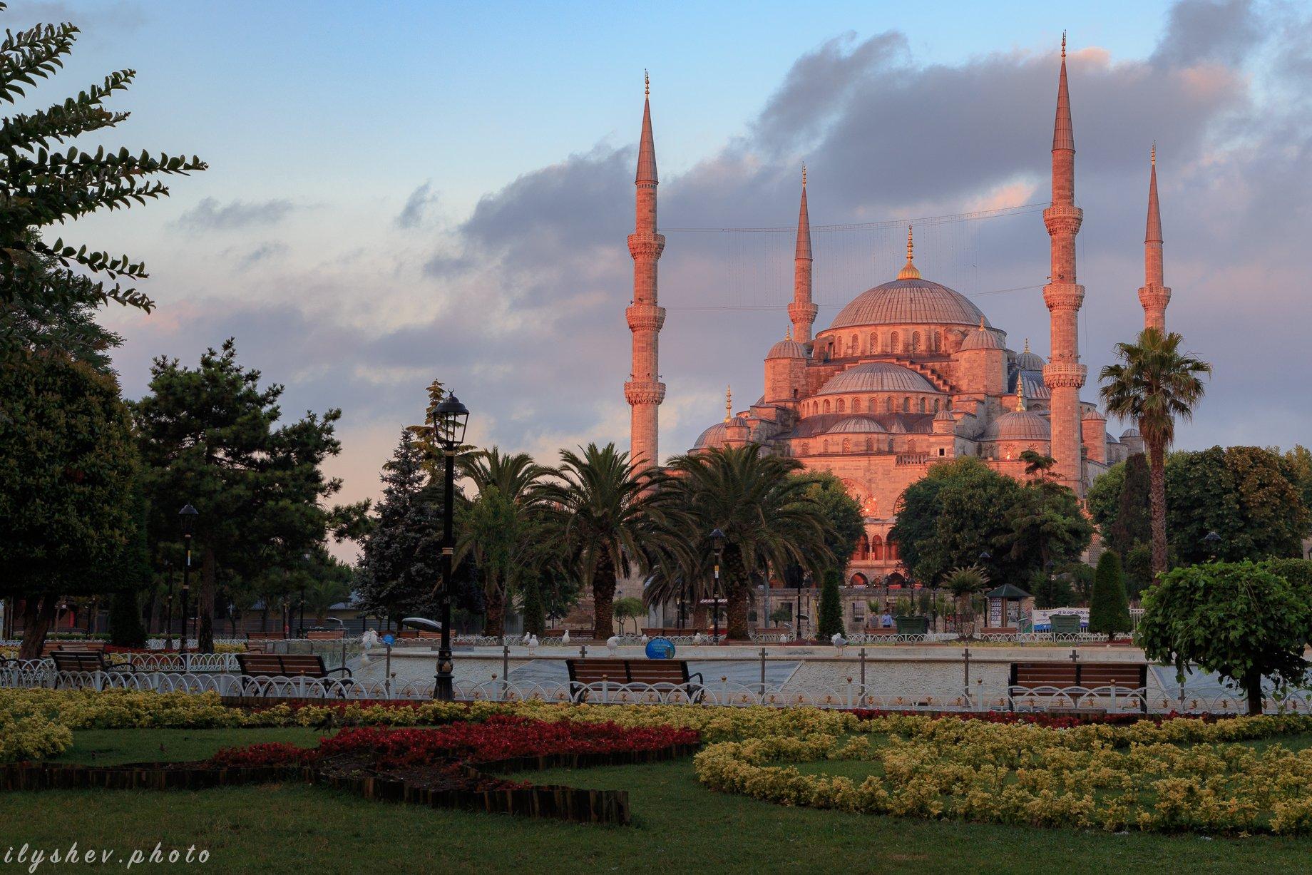 турция, стамбул, голубая мечеть, путешествия, утро, рассвет, Дмитрий Илышев (ilyshev.photo)