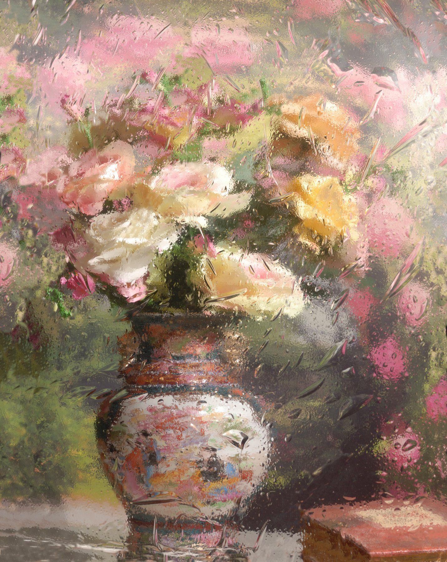 цветы, розы, отражение, Андрей Морозов