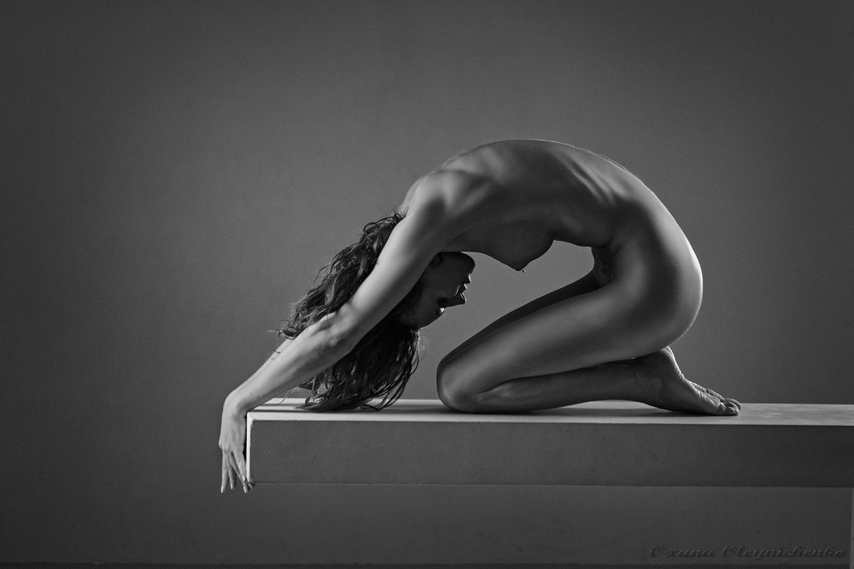 женщина, ню, тело, пластика, монохром, Оксана Олейниченко