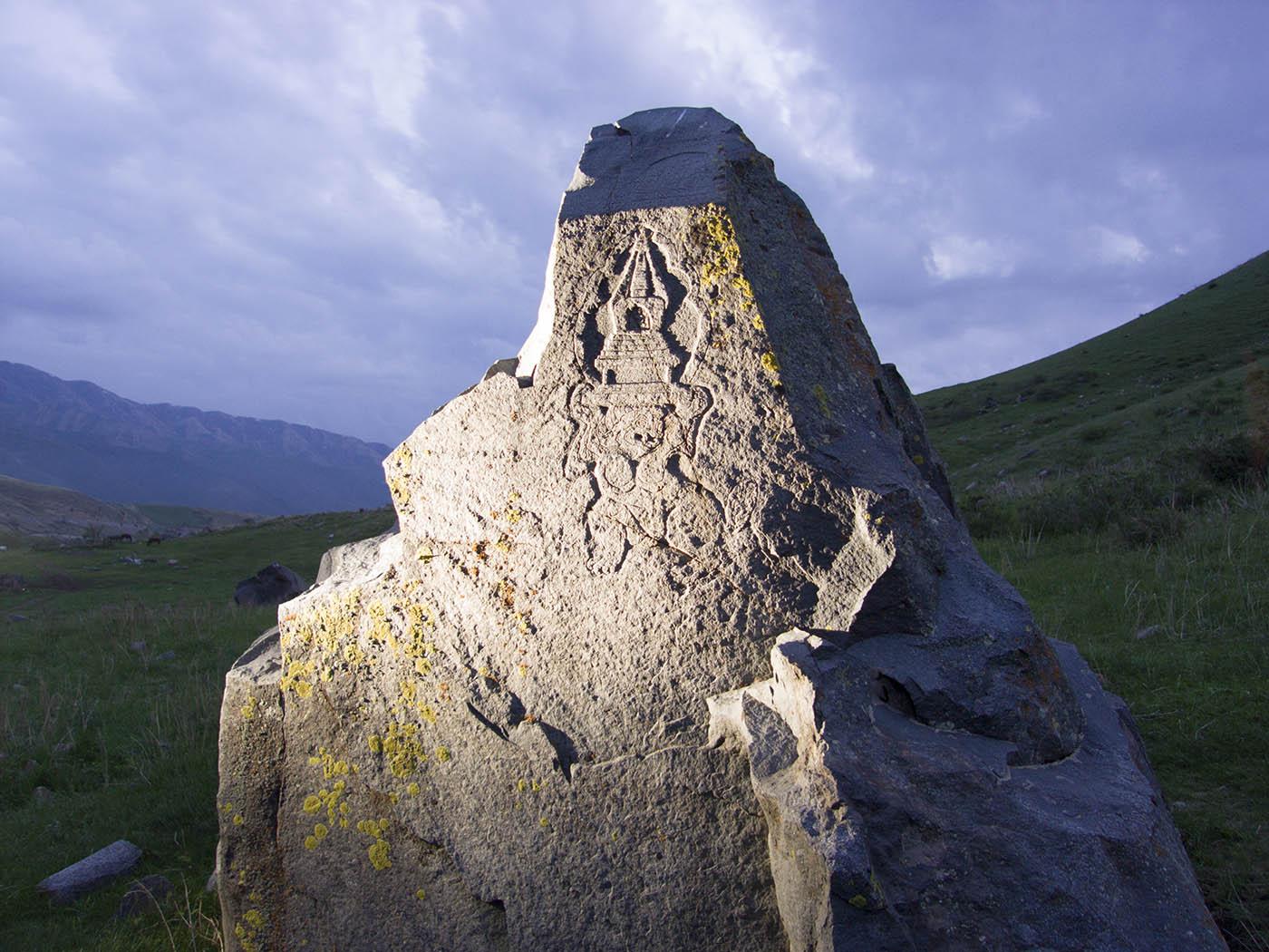 Казахстан, горы, буддизм, ступа, символы, , Борис Резванцев