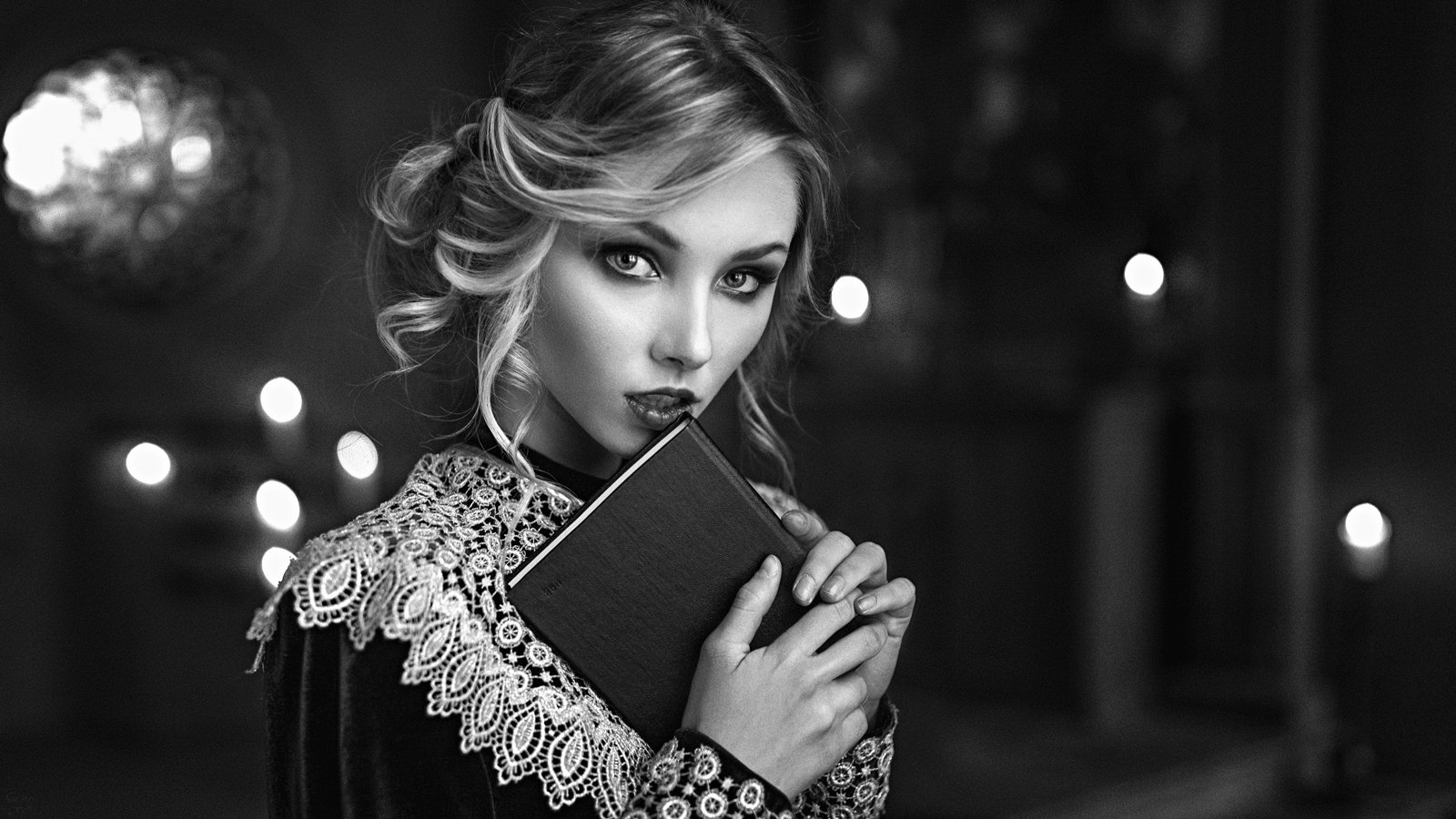 портрет, арт, модель, portrait, art, чб, Георгий Чернядьев