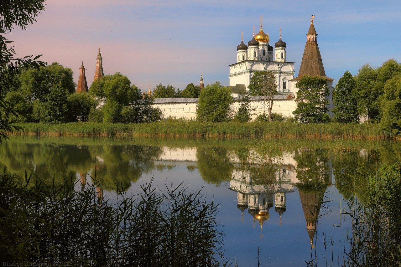 иосифо-волоцкий монастырь, монастырь, природа, пруд,, Виктор Климкин