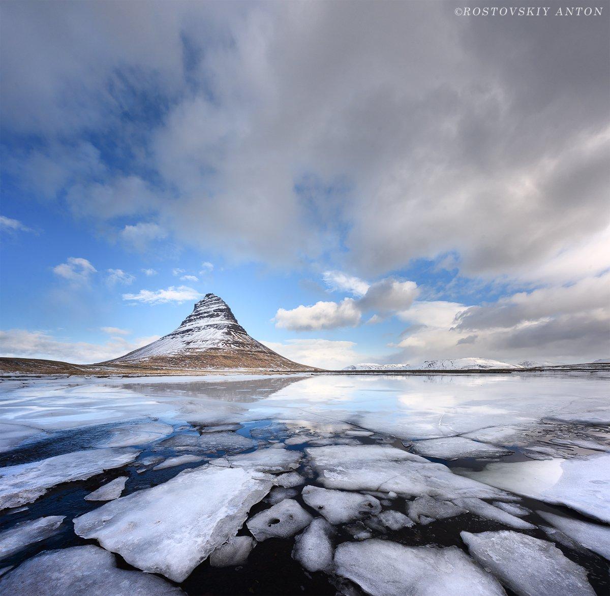Исландия, лёд, фототур, Kirkjufell, гора, triplaunch, Антон Ростовский