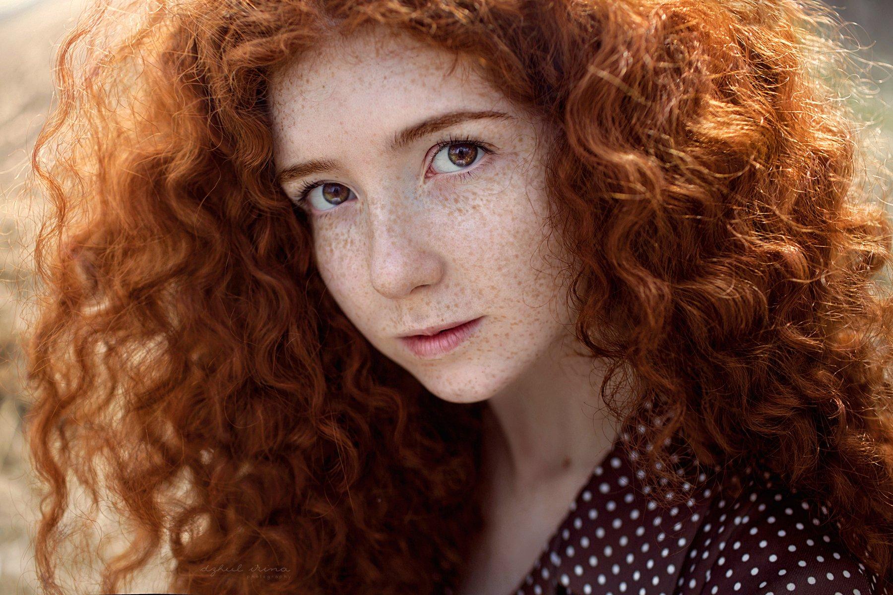 girl portreit people dzhulirina red, Ирина Джуль