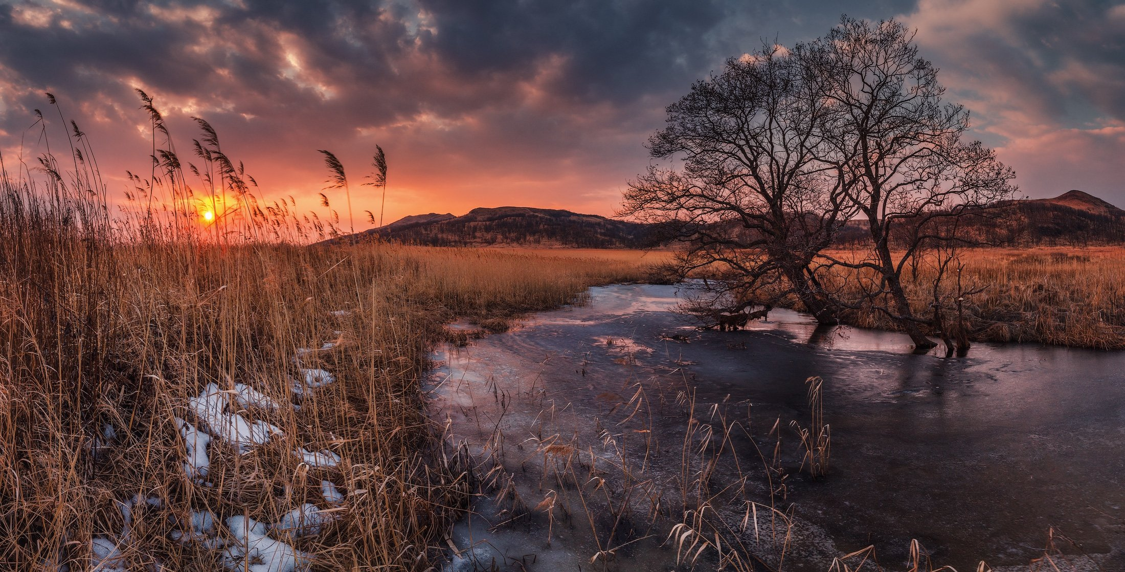 весна, закат, солнце, небо, облака, Андрей Кровлин