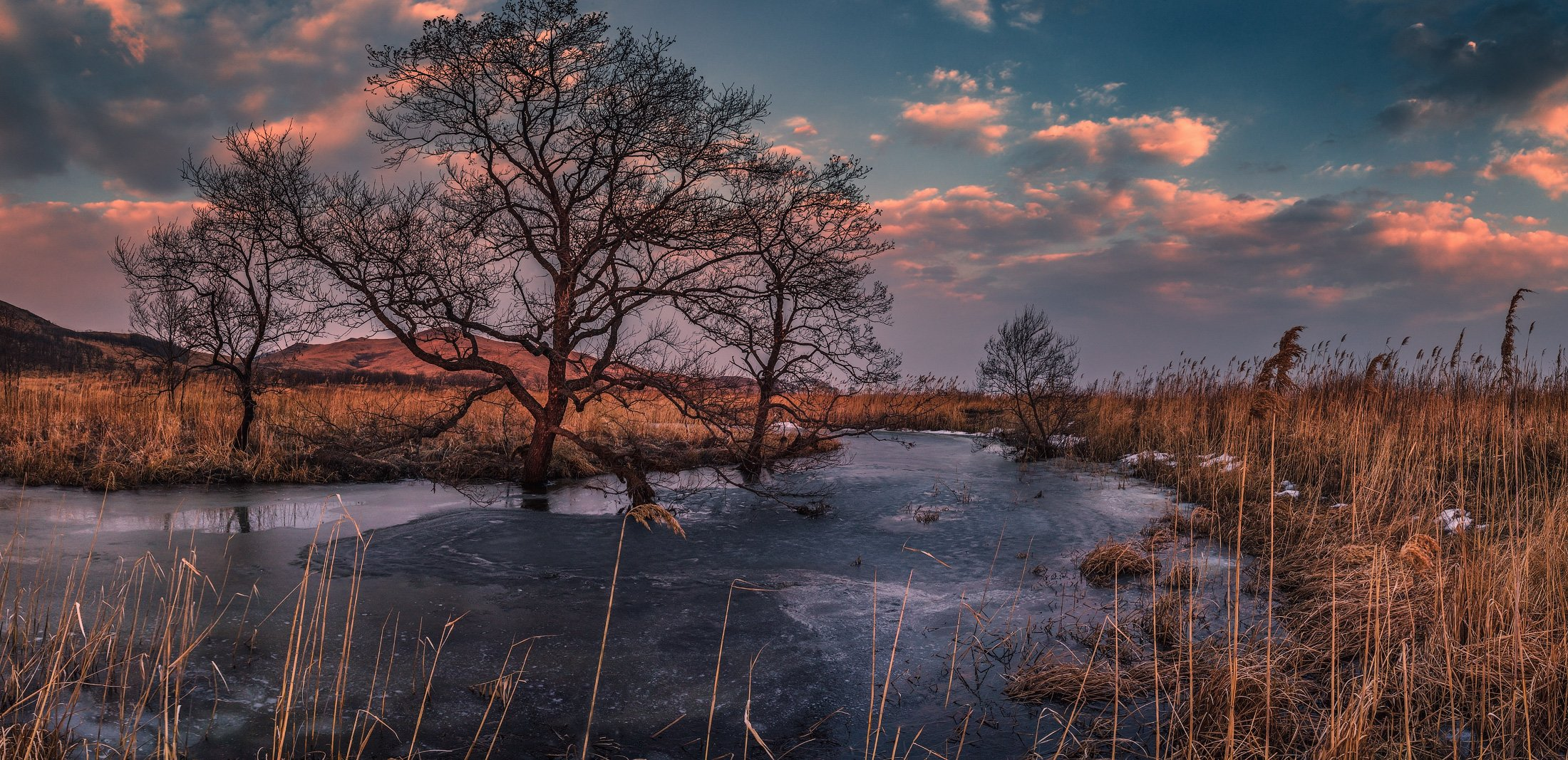 панорама, весна, вечер, Андрей Кровлин