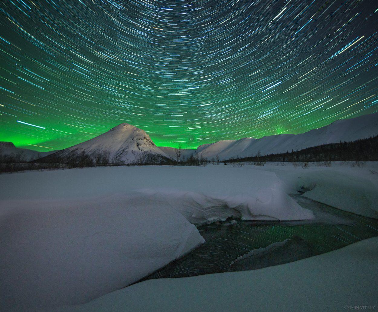 пейзаж,звезды,россия,вода,весна,снег,перспектива, Истомин Виталий