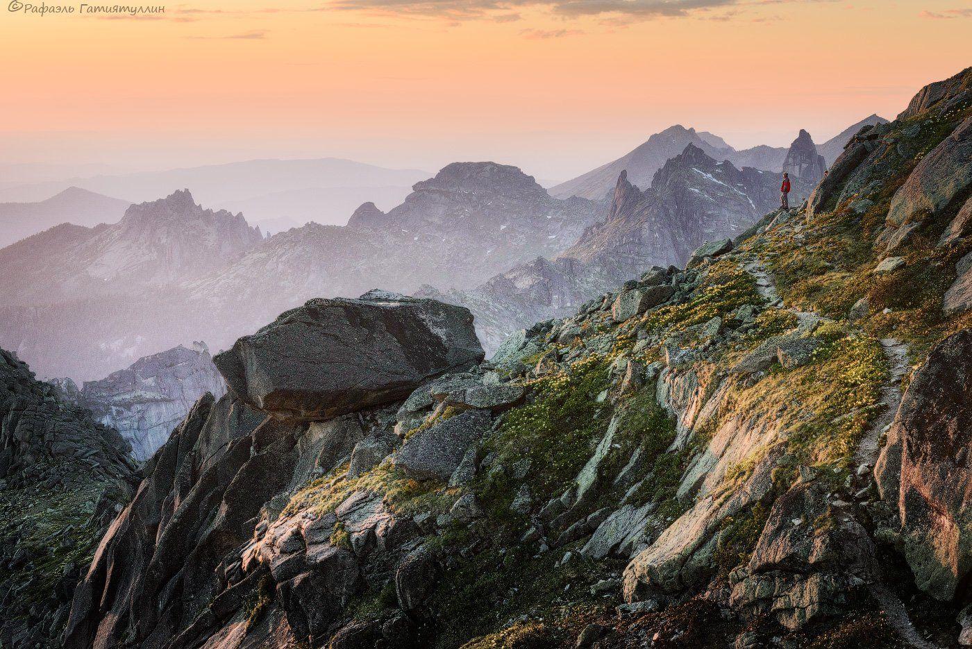 красноярский край, западные саяны, национальный парк  ергаки, горы, закат, лазурное, покой, природа., Рафаэль Гатиятуллин