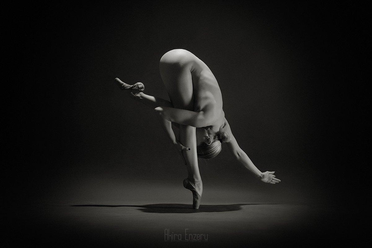 ballerina, ballet, dance, dancing, portrait, nude,, Akira Enzeru