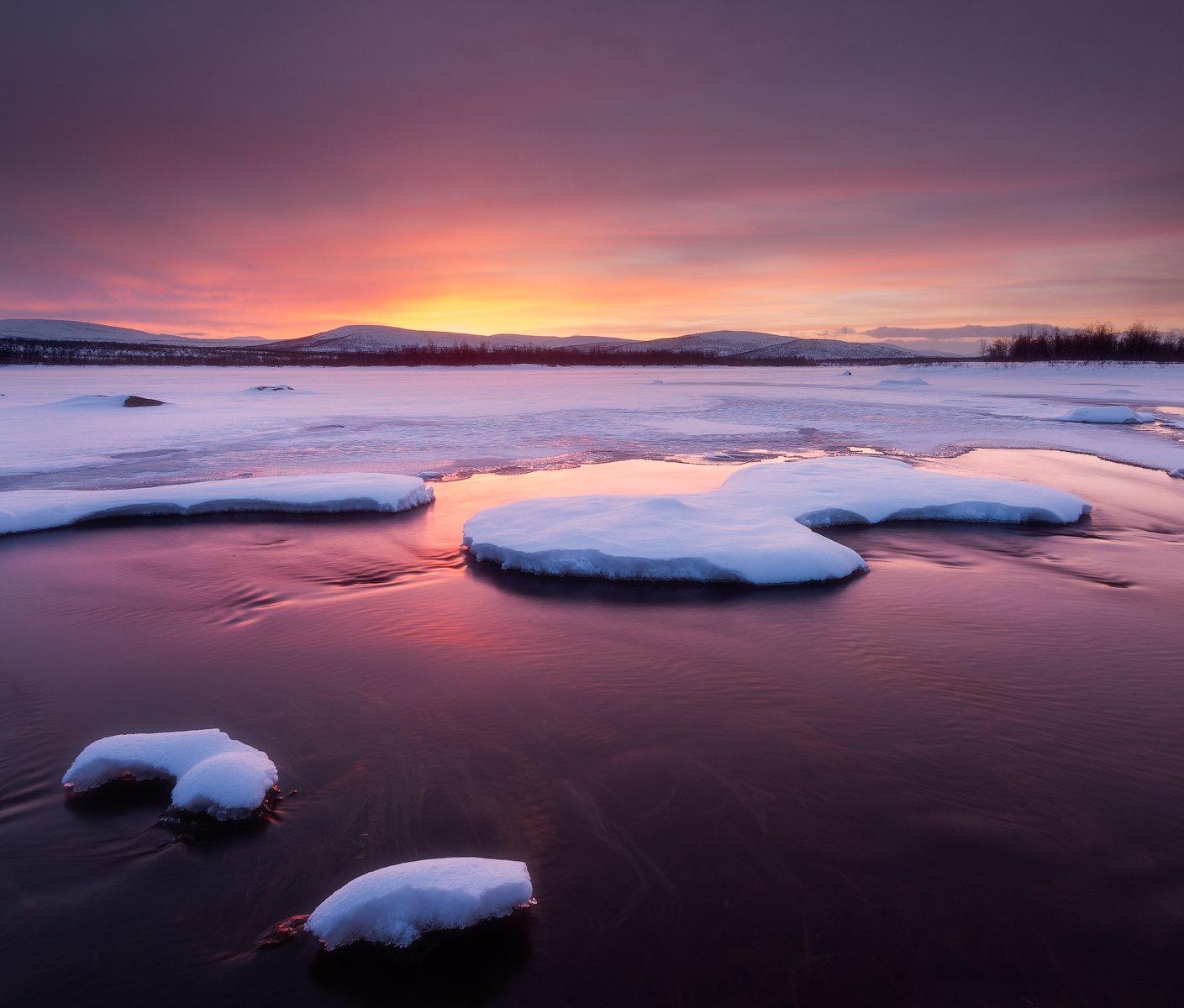 lapland, finland, polar,sunset, Сергей Сутковой