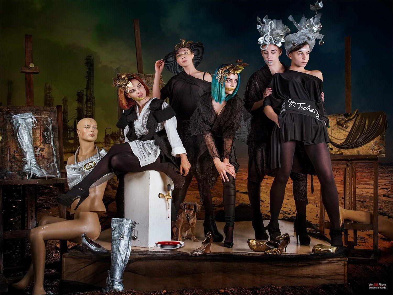 fashion,black, white, dog, desert, art, painting, music, mirage, city, dresses, design, Von Sel