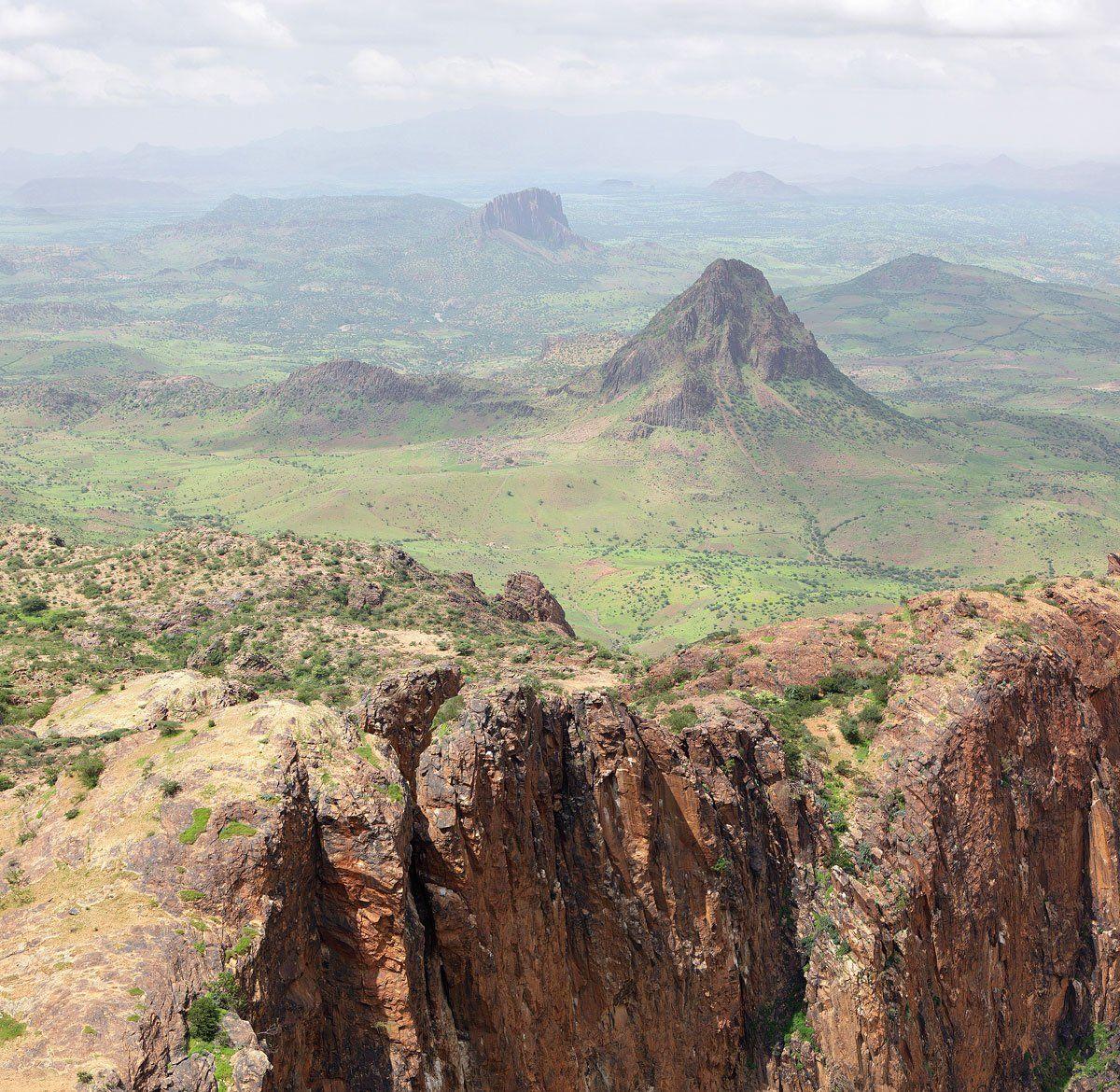 горы, пейзаж, африка, судан, дарфур, полёт, Олег Загидуллин