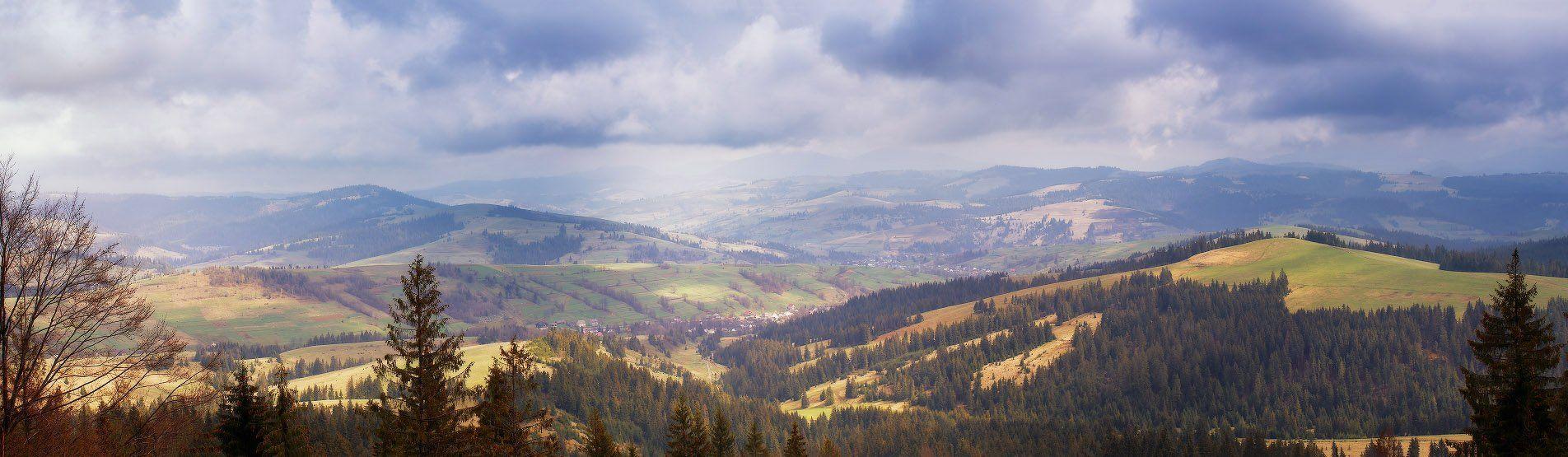 Апрель, Весна, Горы, День, Карпаты, Вейзе Максим