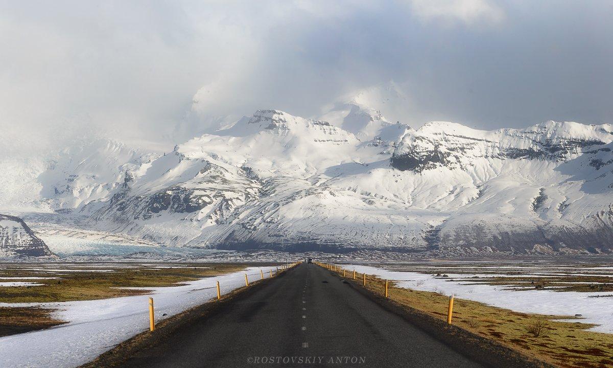 Исландия, Дорога, горы, Антон Ростовский