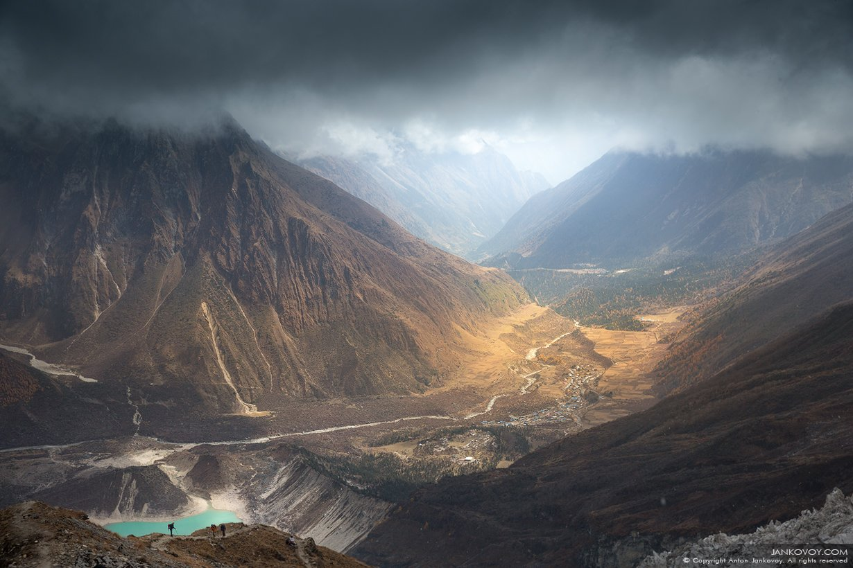 nepal, mountains, river, lake, glacier, gorge, samagaon, birendra, valley, himalayas, manaslu, Антон Янковой (www.photo-travel.com)
