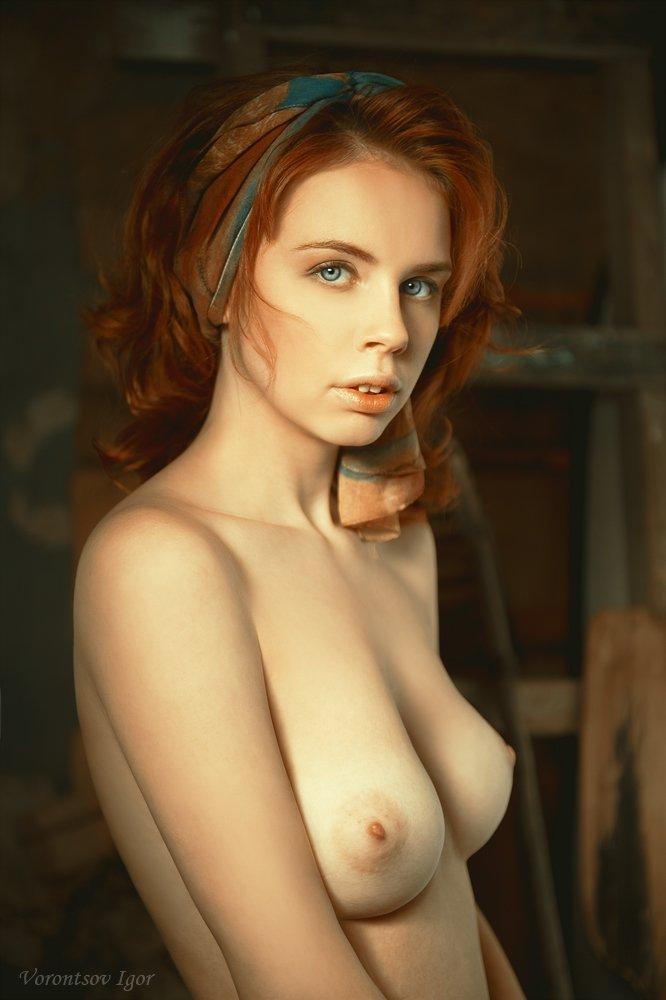 девушка  грудь обнажённая ню винтаж, Воронцов Игорь