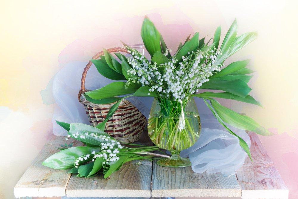 весна,ландыши,цветы,в.павлухина,, Вера Павлухина