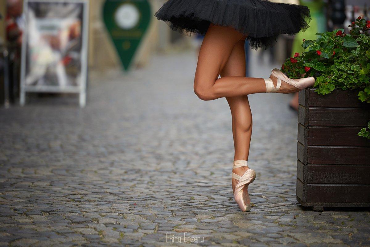 ballerina, ballet, dance, dancing, portrait, street,, Akira Enzeru