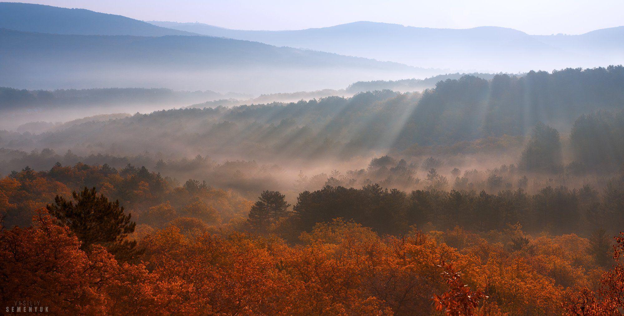 Крым, рассвет, туман, горы, утро., Семенюк Василий