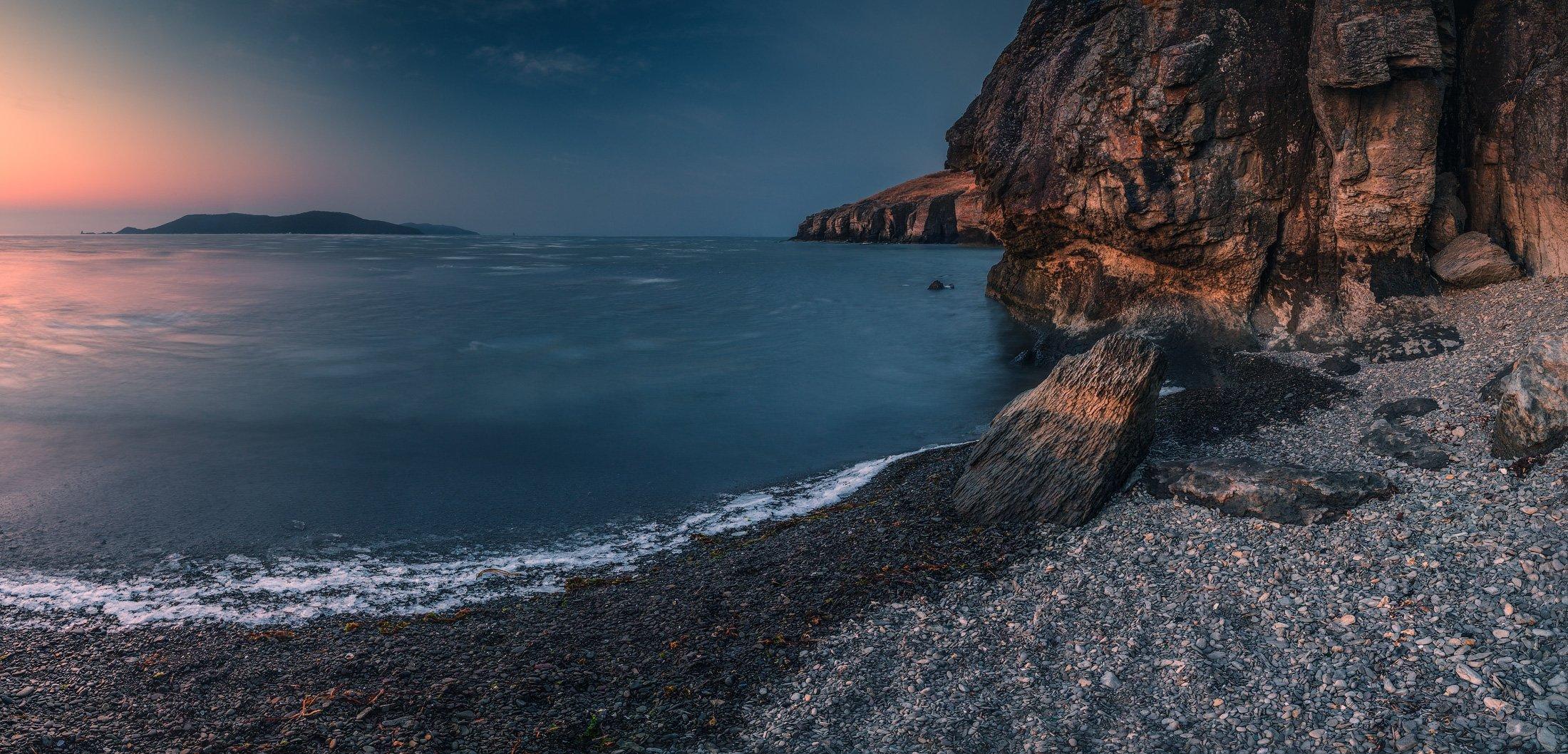 панорама, утро, мое, скалы, Андрей Кровлин