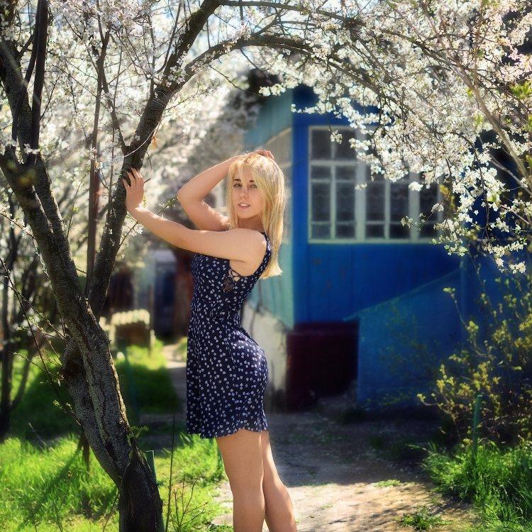 девушка, весна, модель, секси, блондинка, Вьюшкин Игорь