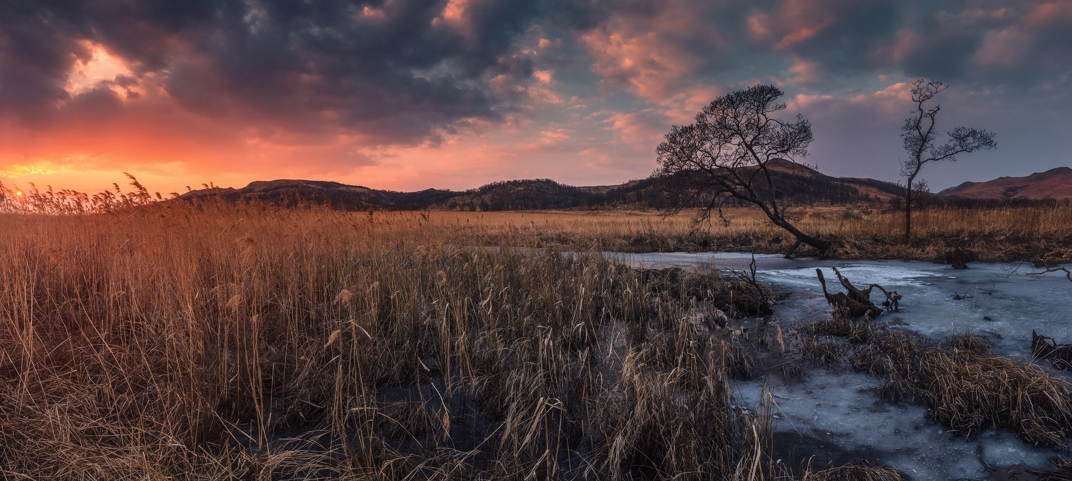 панорама, весна, закат, Андрей Кровлин