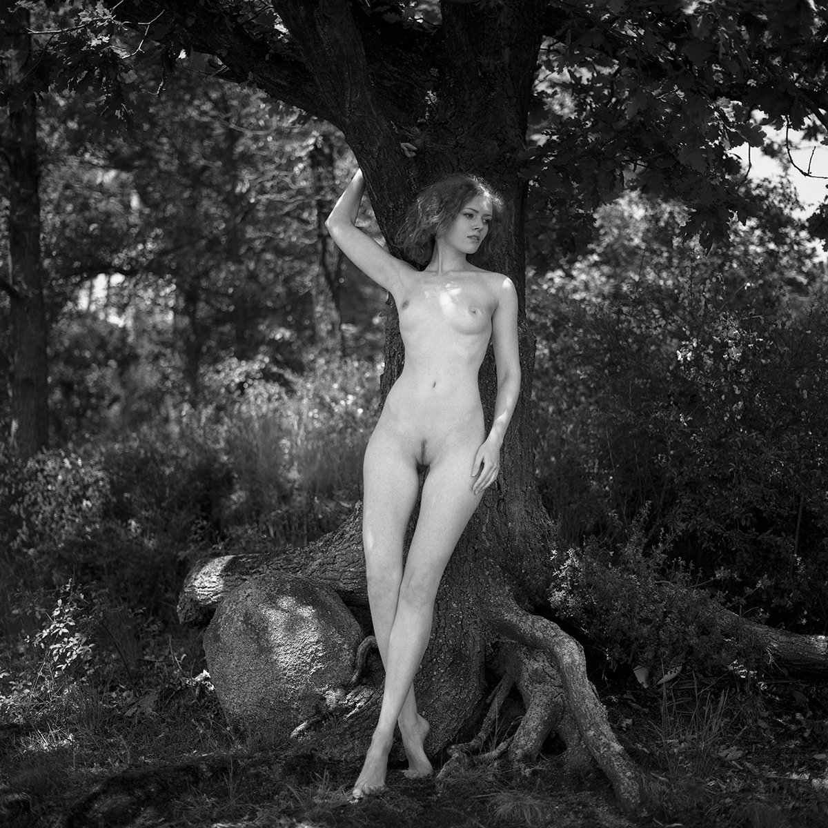 akt, nude, analog, hasselblad, ninoveron, kaciaryna, kate ri, women, topless, fineart, bw, 6x6,, NinoVeron