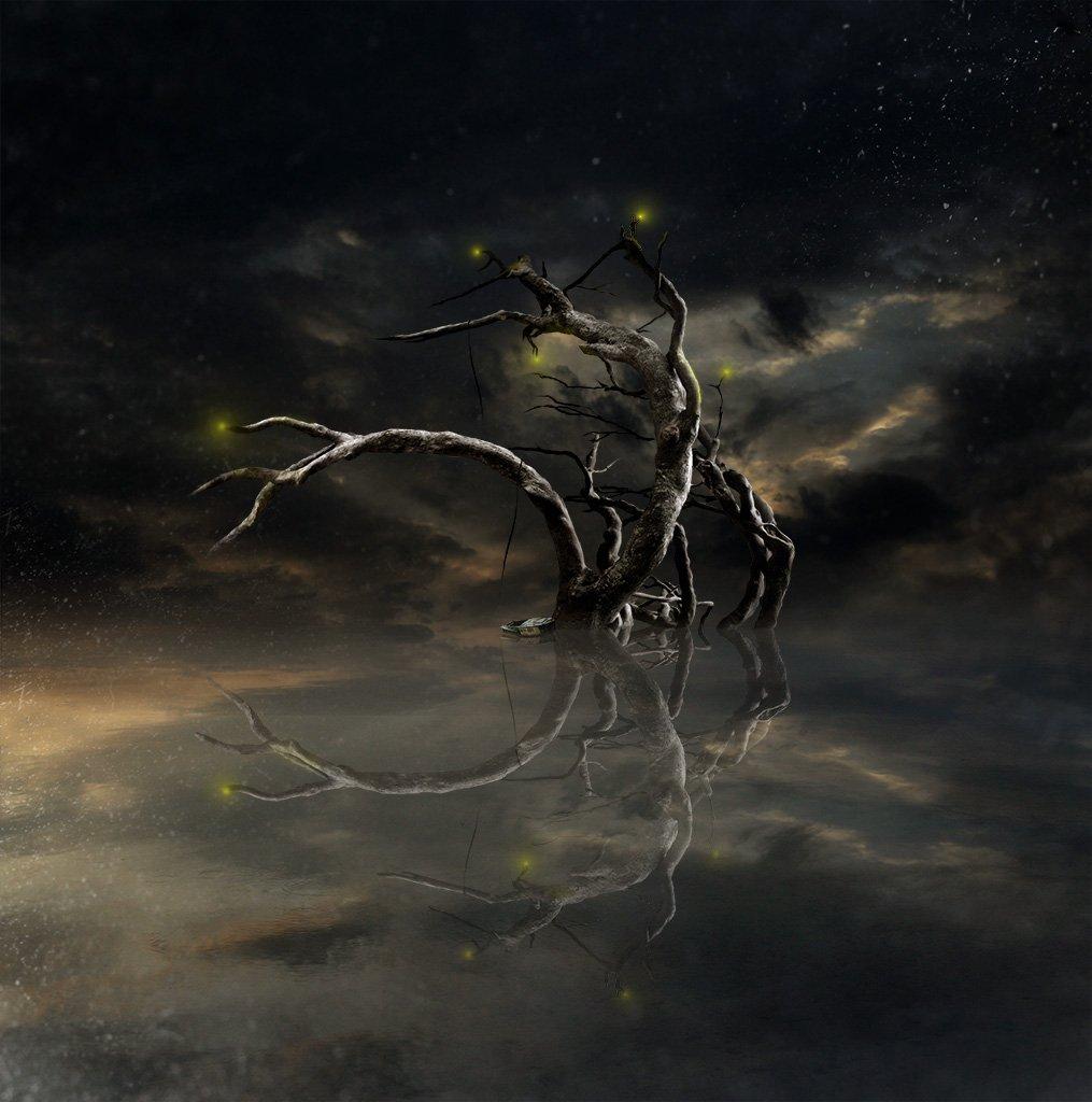 дерево, пейзаж, Виктор Поздняк