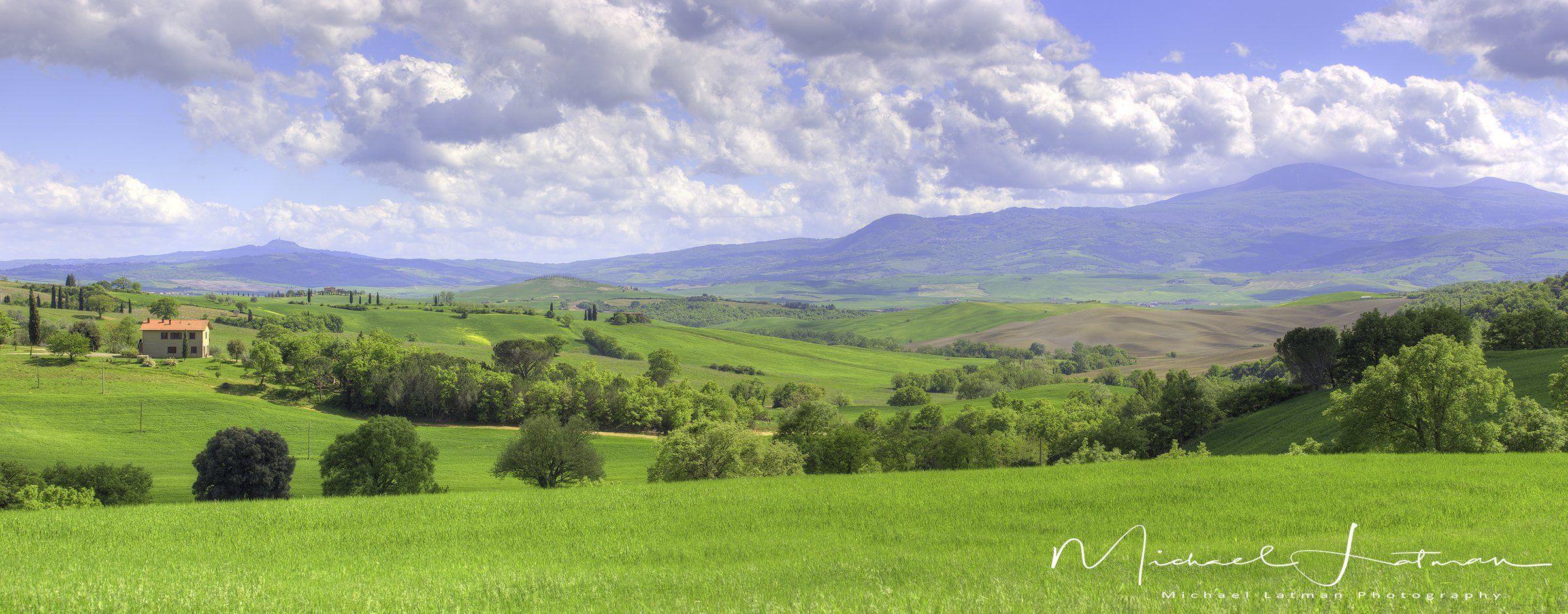 Италия,Тоскань,весна,красота,зелень, цветы,небо,пастораль,пейзаж, Michael Latman