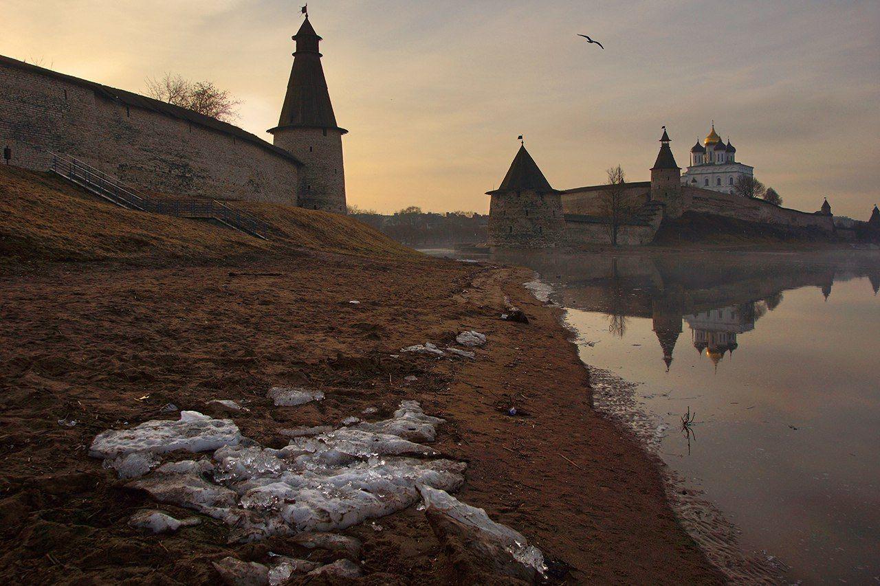 псков, кром, река, великая, Петр Косых