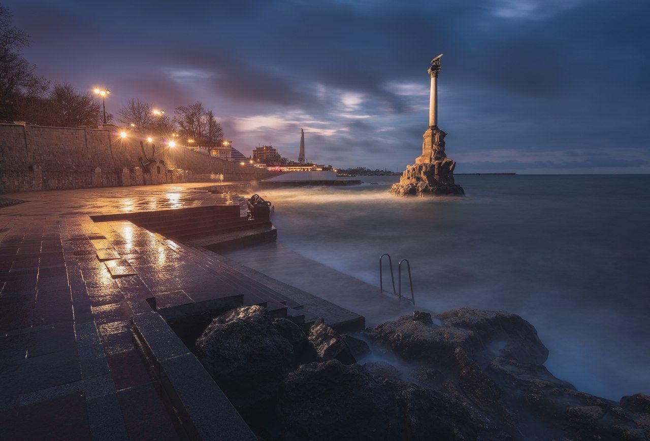 крым, севастополь, черное море, море, пейзаж, городской пейзаж, шторм, Лузанов Вячеслав