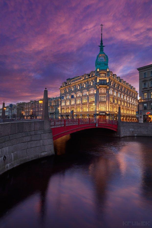 красный мост, санкт-петербург, река мойка, торговый дом, архитектура, KrubeK