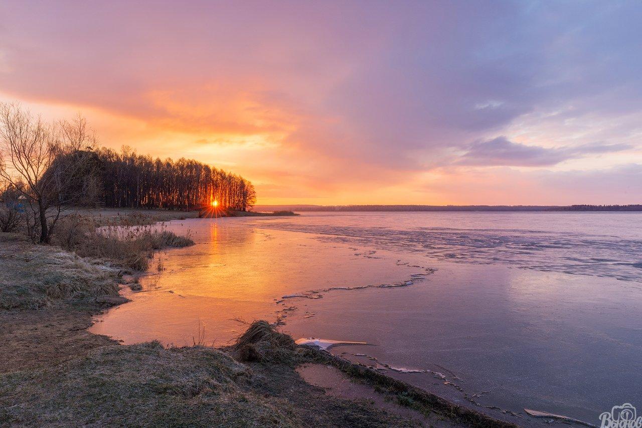озеро,сенеж,озеро сенеж,рассвет,подмосковье,московская область,лёд,утро,берег,солнечногорск, Вьюнов Сергей