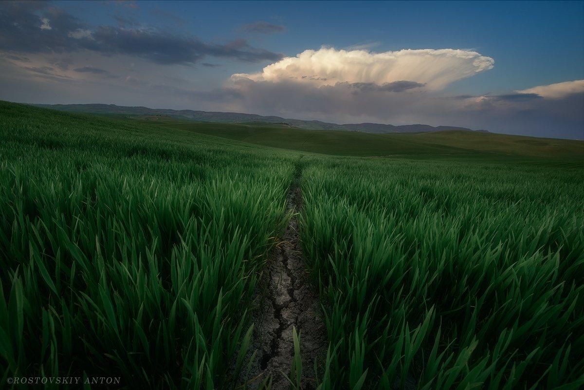 Тоскана, гроза, облака, фототур, Антон Ростовский
