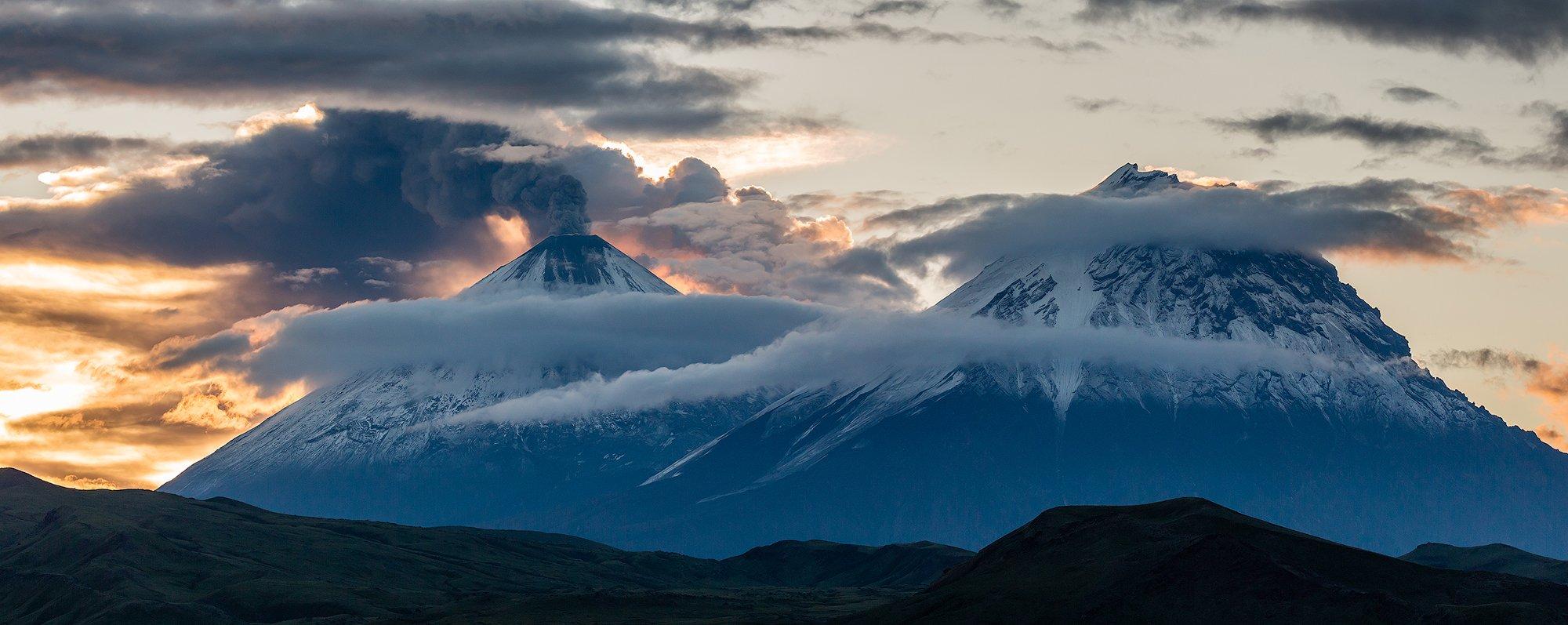 камчатка, вулкан, пейзаж, природа, путешествие, рассвет,, Денис Будьков