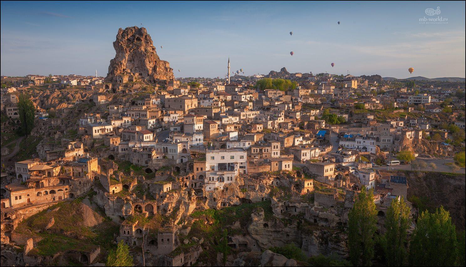 Турция, Каппадокия, пейзаж, рассвет, путешествия, , Михаил Воробьев