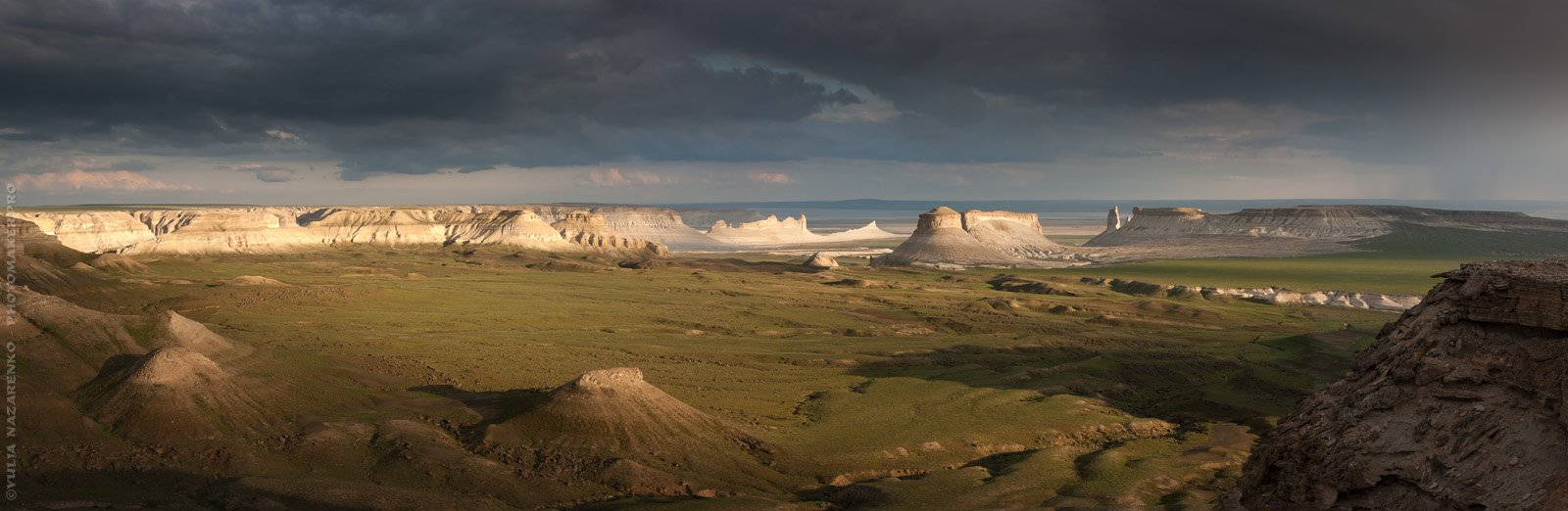 пейзаж, панорама, ландшафт, необычный, Казахстан, Бозжира, landscape, panorama, Юлия Назаренко