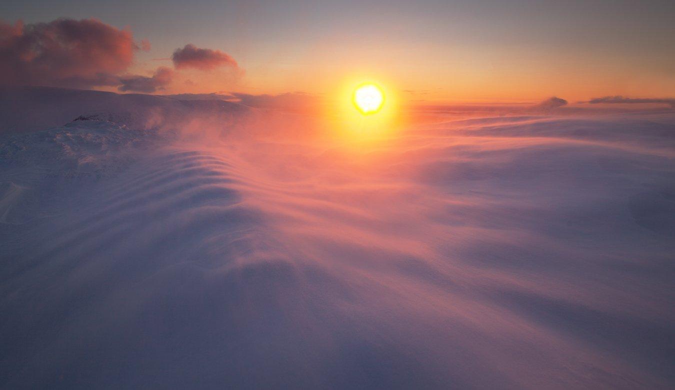 пейзаж,хибины,россия,снег,свет,солнце,небо,тень,метель, Истомин Виталий