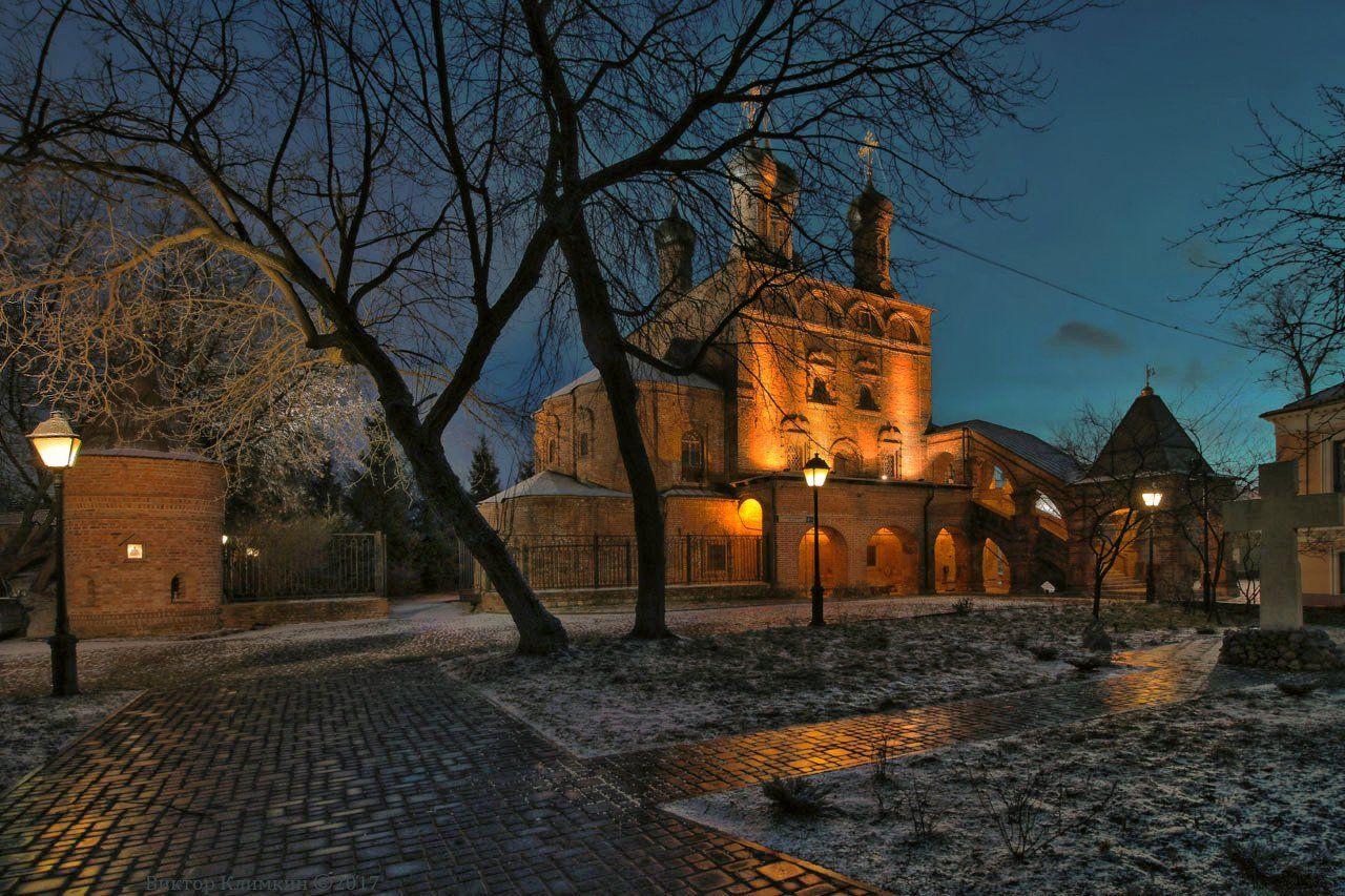 москва, вечер, храм, крутицкое, подворье, Виктор Климкин
