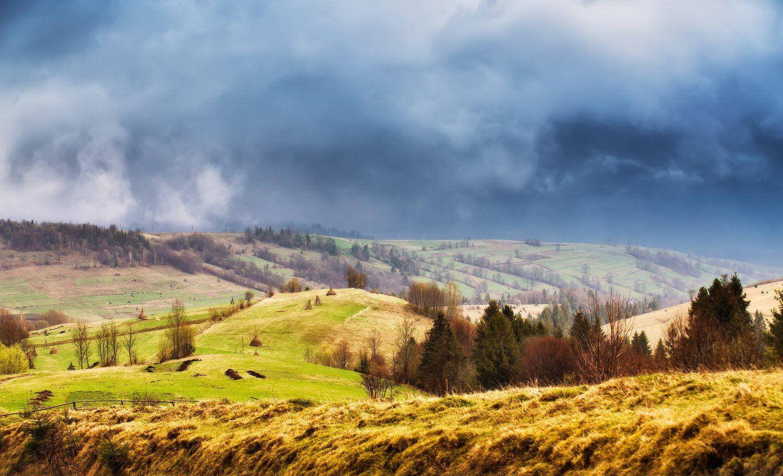 апрель, весна, горы, день, дождь, закарпатье, карпаты, Вейзе Максим