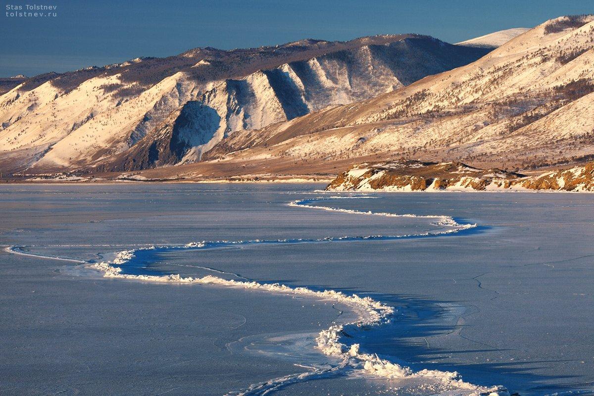 байкал, малое море, ольхон, лед, зима,, Станислав Толстнев