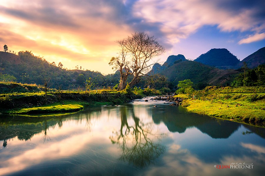 #quanphoto,#landscape,#longexposure,#reflections,#mountains,#tree,#stream,#sunset,#sundown,#sky,#vietnam, quanphoto